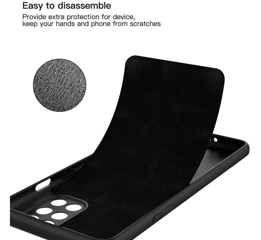 OnePlus 8T Hoesje Liquid Silicone Zwart