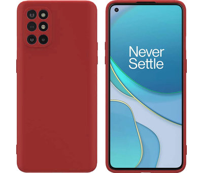 OPPRO OnePlus 8T Hoesje Liquid Silicone Rood