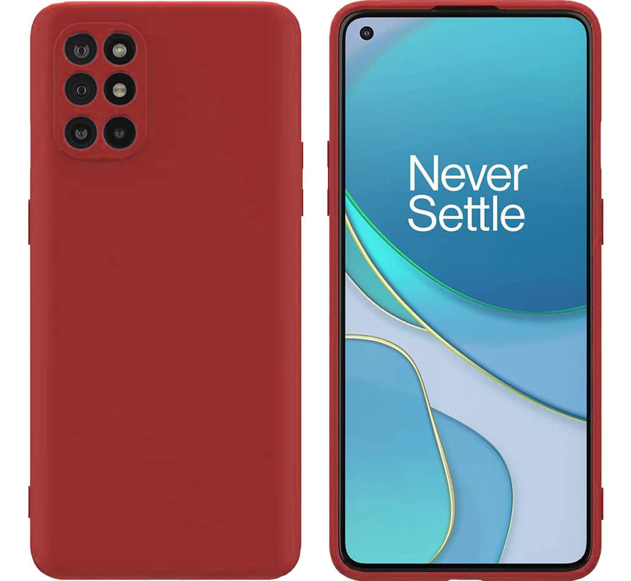OnePlus 8T Hoesje Liquid Silicone Rood