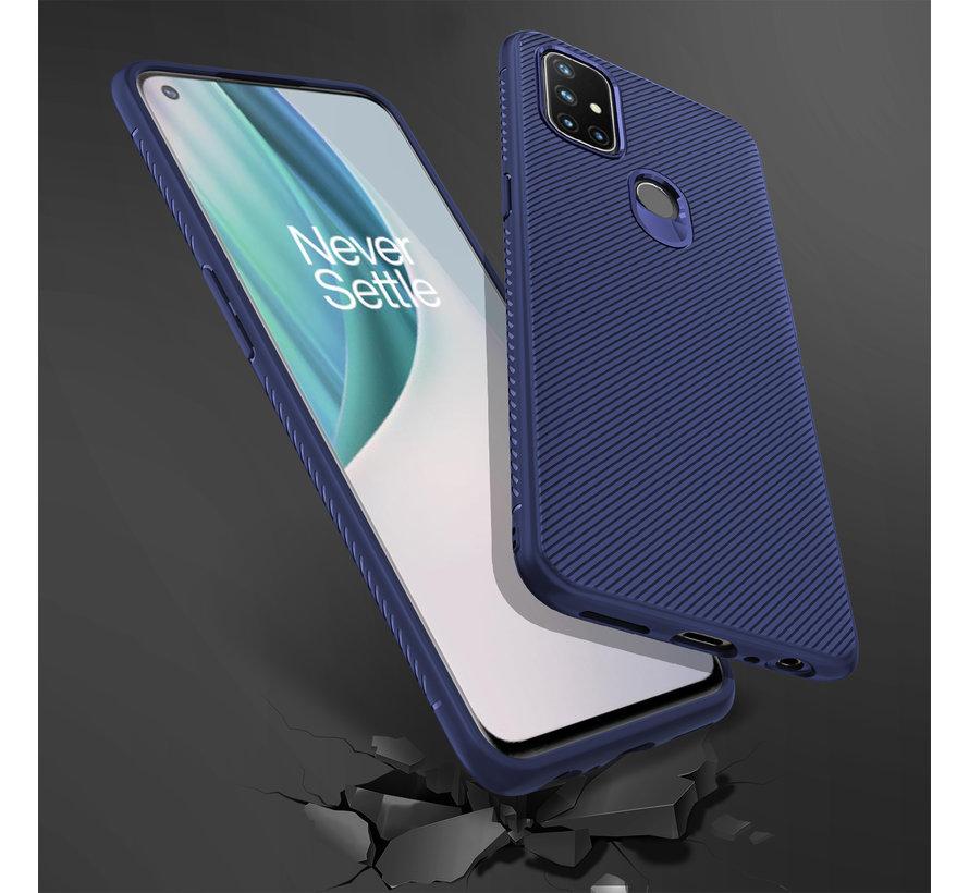 OnePlus Nord N10 5G Case TPU GripLine Blau