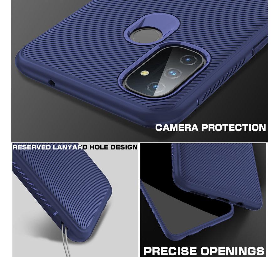 OnePlus Nord N100 Case TPU GripLine Blau