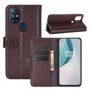 OPPRO OnePlus Nord N10 5G Wallet Hoesje Echt Leder Bruin