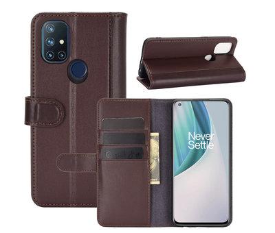 OPPRO OnePlus Nord N10 5G Brieftasche Etui Echtes Leder Braun