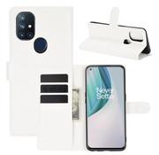 OPPRO OnePlus Nord N10 5G Wallet Flip Case Weiß