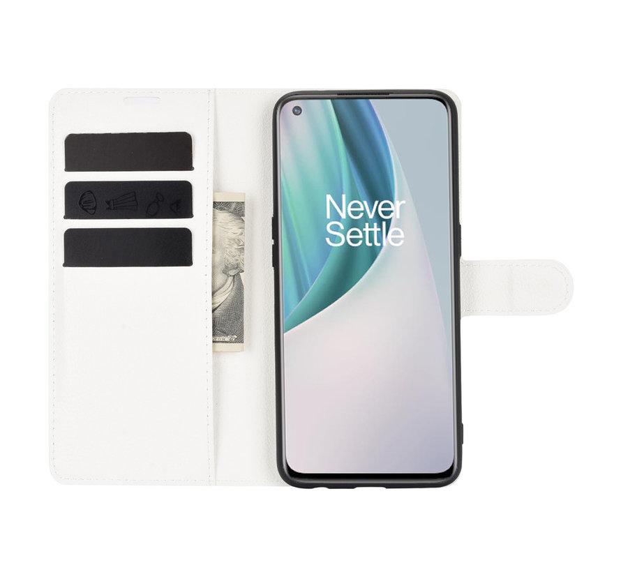 OnePlus Nord N10 5G Wallet Flip Case Weiß