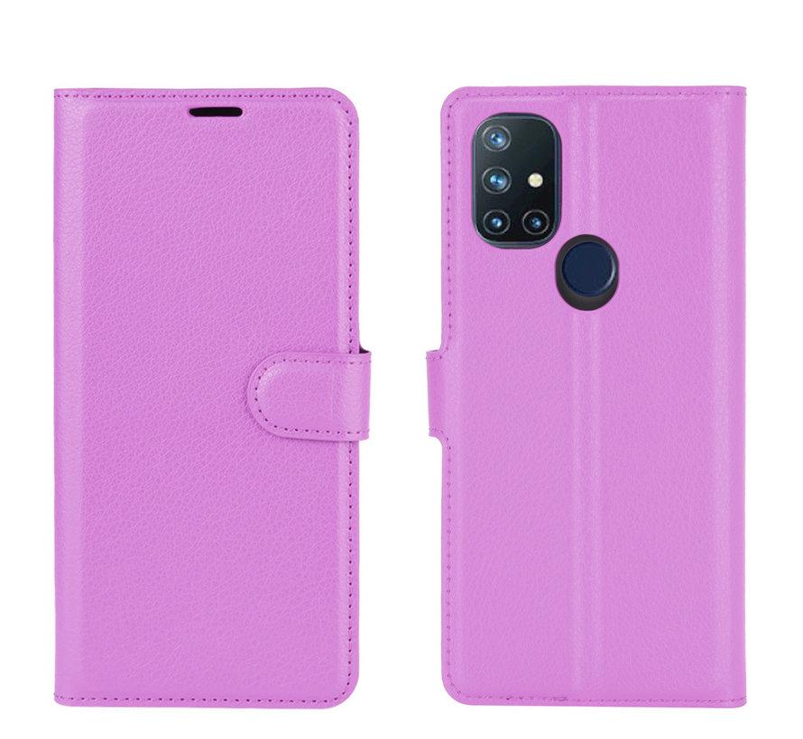 OnePlus Nord N10 5G Wallet Flip Case Paars