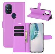 OPPRO OnePlus Nord N10 5G Wallet Flip Case Lila