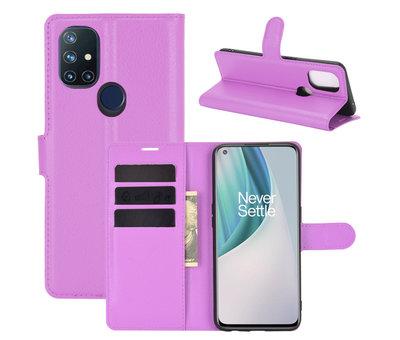 OPPRO OnePlus Nord N10 5G Wallet Flip Case Paars