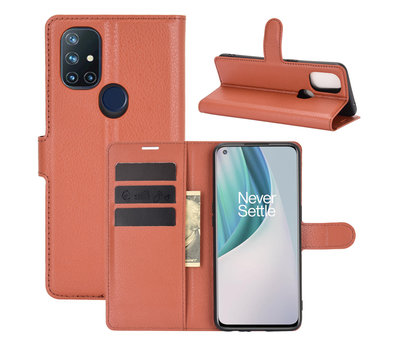 OPPRO OnePlus Nord N10 5G Wallet Flip Case Bruin