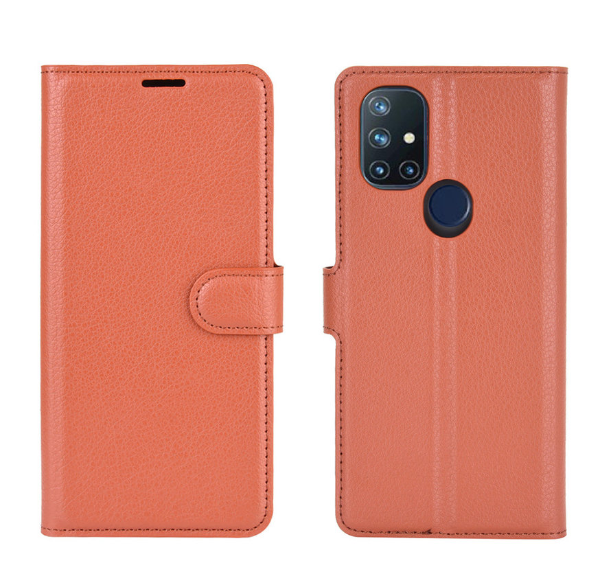 OnePlus Nord N10 5G Wallet Flip Case Bruin