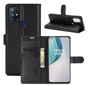 OPPRO OnePlus Nord N10 5G Wallet Flip Case Schwarz