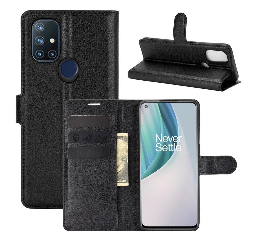 OnePlus Nord N10 5G Wallet Flip Case Schwarz