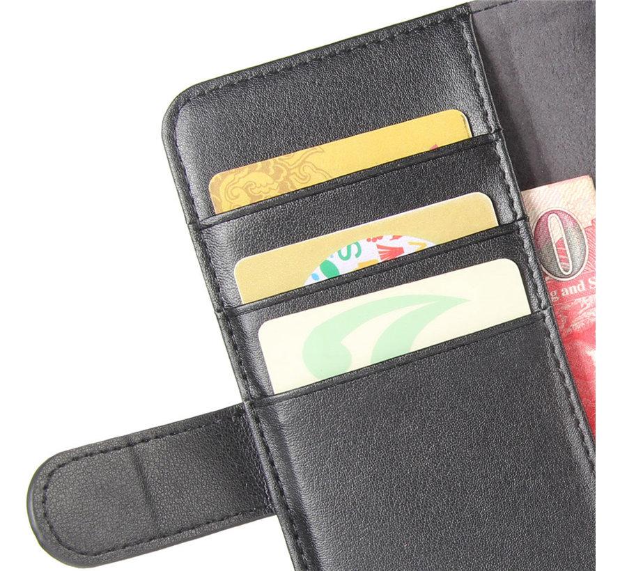 OnePlus Nord N100 Wallet Case Echtleder Schwarz
