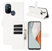 OPPRO OnePlus Nord N100 Wallet Flip Case Weiß