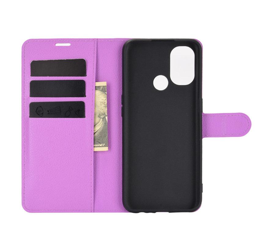 OnePlus Nord N100 Wallet Flip Case Paars
