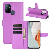 OPPRO OnePlus Nord N100 Wallet Flip Case Paars
