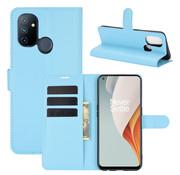 OPPRO OnePlus Nord N100 Wallet Flip Case Blau