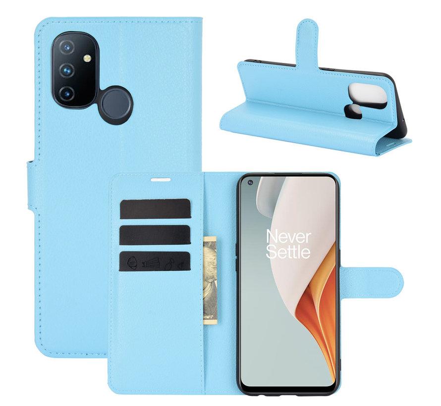 OnePlus Nord N100 Wallet Flip Case Blauw