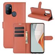 OPPRO OnePlus Nord N100 Wallet Flip Case Bruin