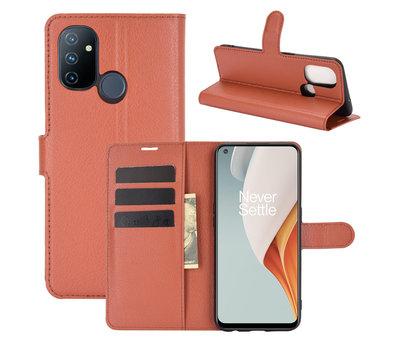 OPPRO OnePlus Nord N100 Wallet Flip Case Braun