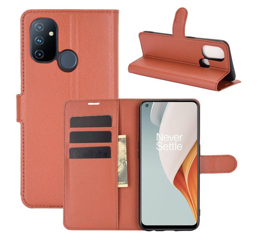 OnePlus Nord N100 Wallet Flip Case Braun