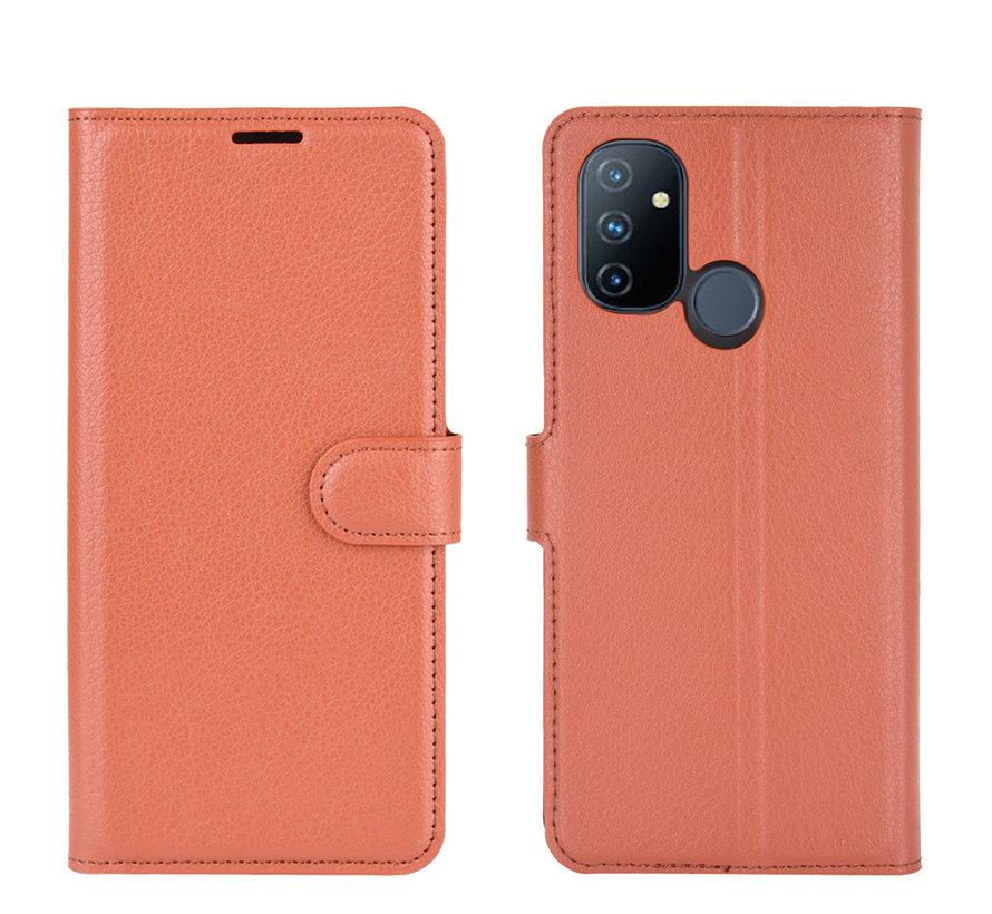 OnePlus Nord N100 Wallet Flip Case Bruin