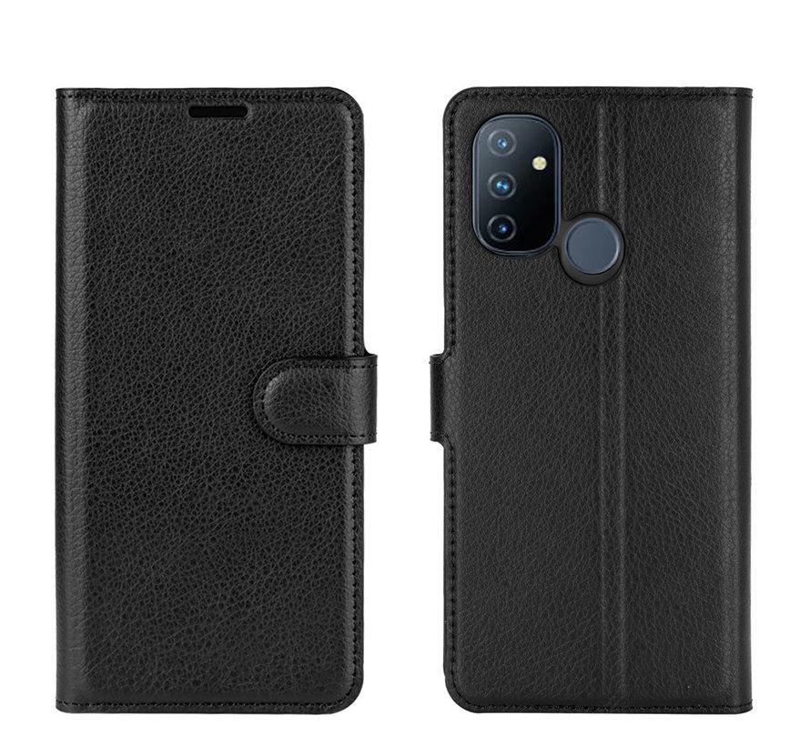 OnePlus Nord N100 Wallet Flip Case Schwarz