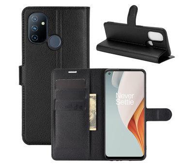 OPPRO OnePlus Nord N100 Wallet Flip Case Schwarz