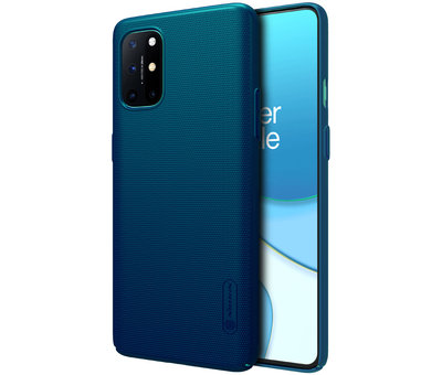Nillkin OnePlus 8T Hoesje Super Frosted Shield Blauw
