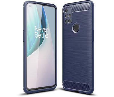 OPPRO OnePlus Nord N10 5G Case Gebürstetes Carbonblau