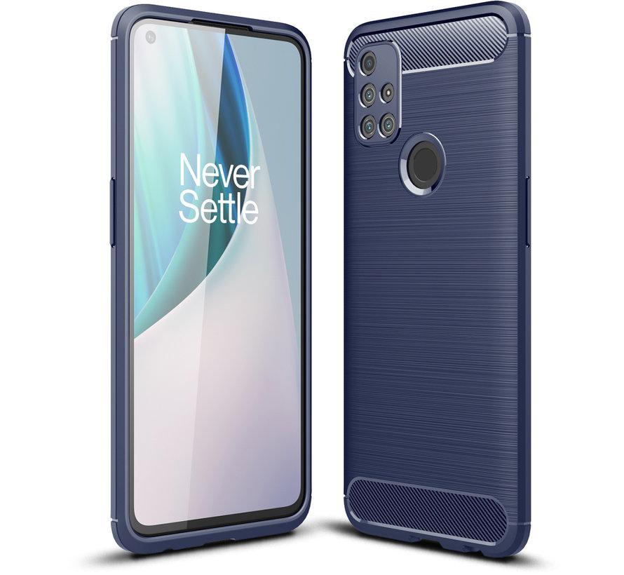 OnePlus Nord N10 5G Case Gebürstetes Carbonblau