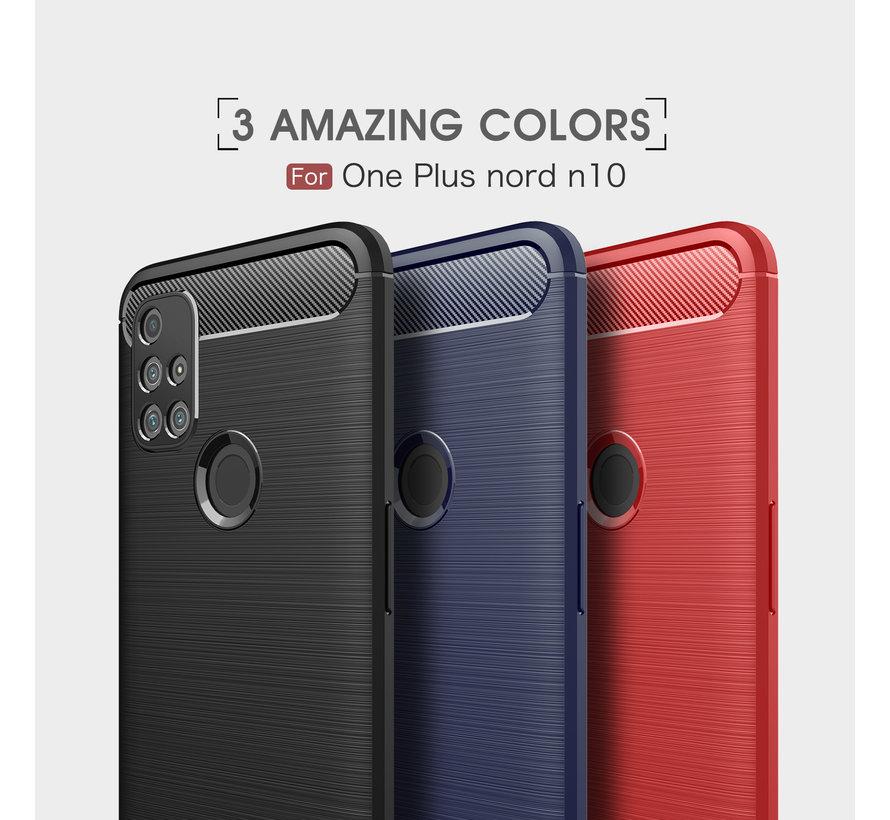OnePlus Nord N10 5G Gehäuse gebürstet Carbon Red