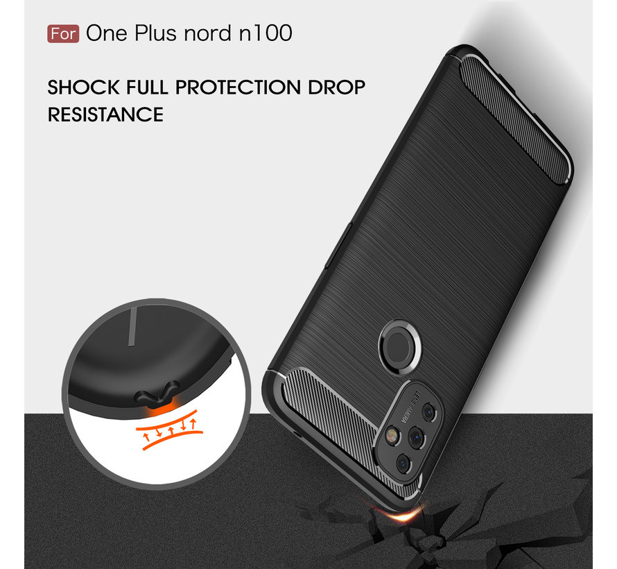 OnePlus Nord N100 Gehäuse gebürstet Carbon Red