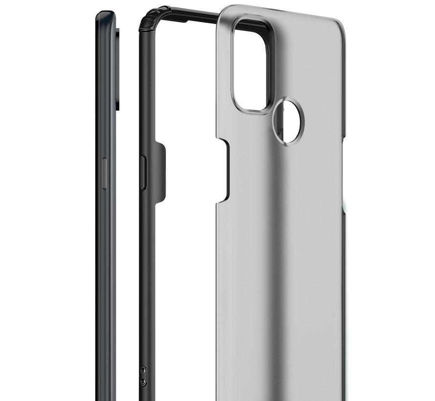 OnePlus Nord N100 Merge Bumper Hoesje Blauw