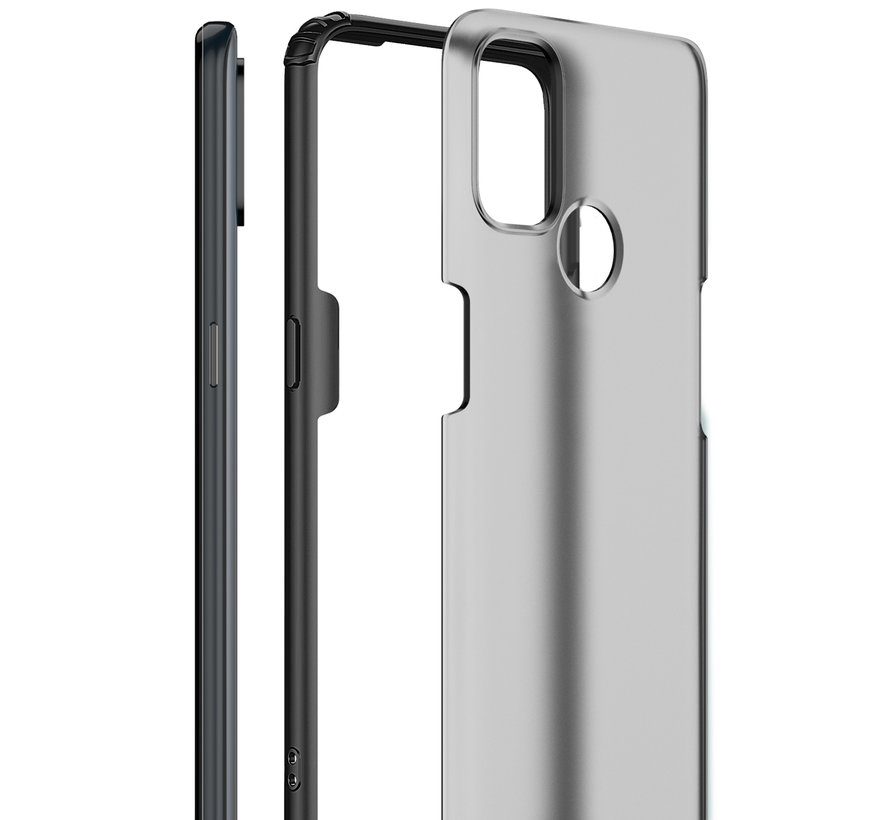 OnePlus Nord N100 Merge Bumper Hoesje Rood