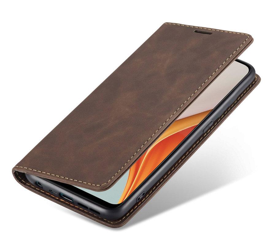 OnePlus Nord N100 Wallet Hoesje Vintage Leder Bruin