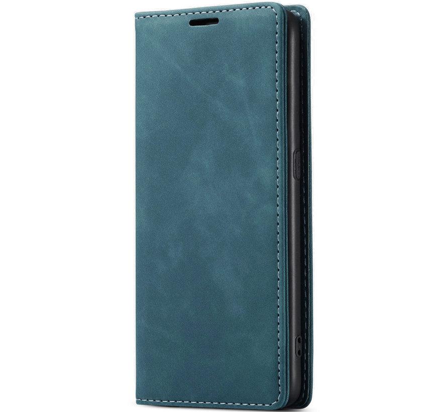 OnePlus Nord N100 Wallet Hoesje Vintage Leder Blauw