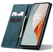OPPRO OnePlus Nord N100 Wallet Case Vintage Leather Blue