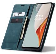 OPPRO OnePlus Nord N100 Wallet Hoesje Vintage Leder Blauw