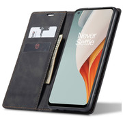 OPPRO OnePlus Nord N100 Wallet Case Vintage Leather Black