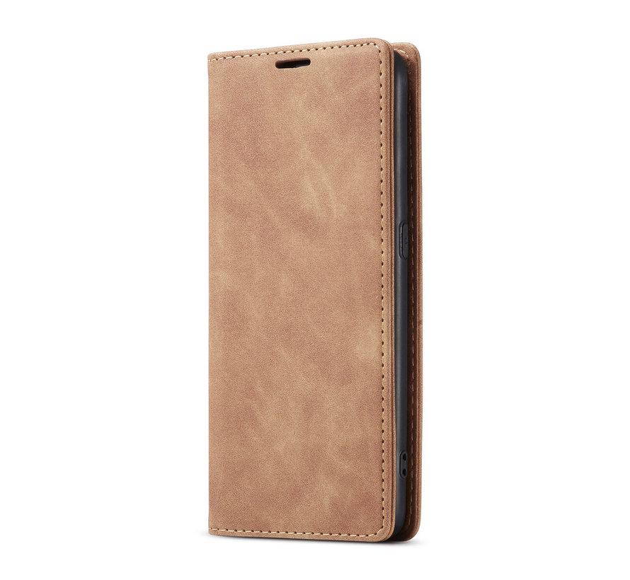 OnePlus Nord N10 5G Brieftasche Vintage Leder Beige