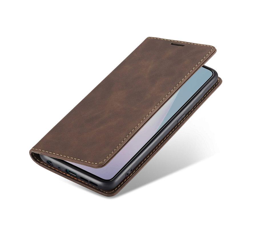 OnePlus Nord N10 5G Brieftasche Vintage Leder Braun