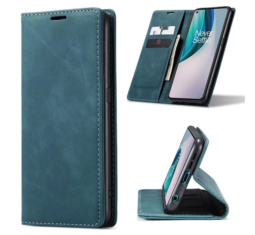 OnePlus Nord N10 5G Brieftasche Vintage Leder Blau