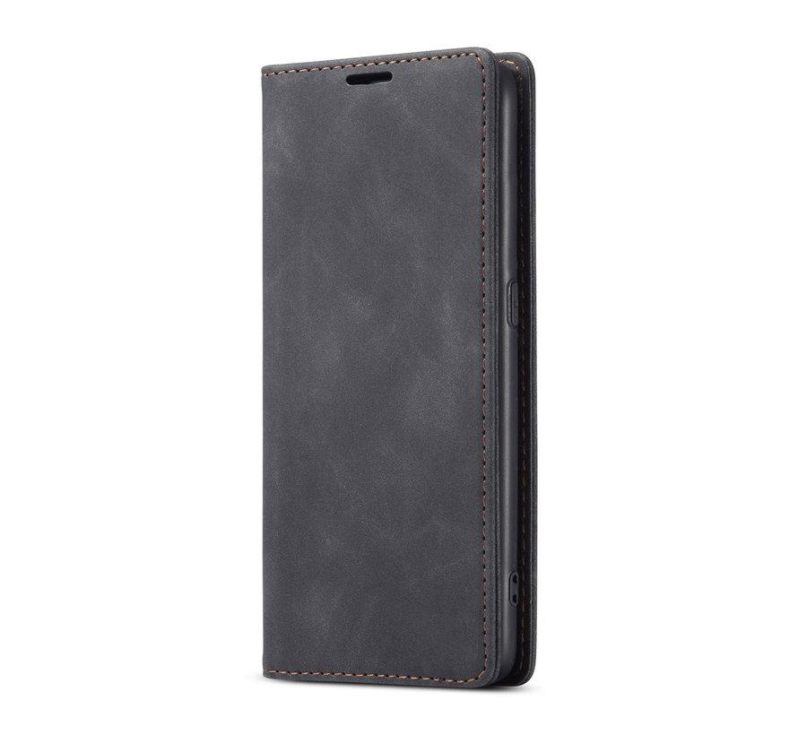 OnePlus Nord N10 5G Brieftasche Vintage Leder Schwarz