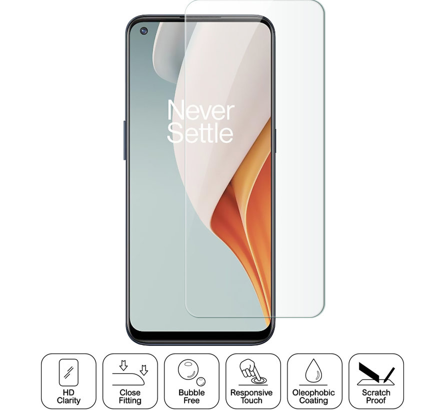 OnePlus Nord N100 Glazen Screen Protector 9H+ 2.5d (2 st.)