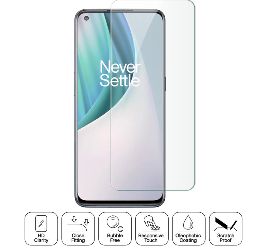 OnePlus Nord N10 5G Glazen Screen Protector 9H+ 2.5d (2 st.)