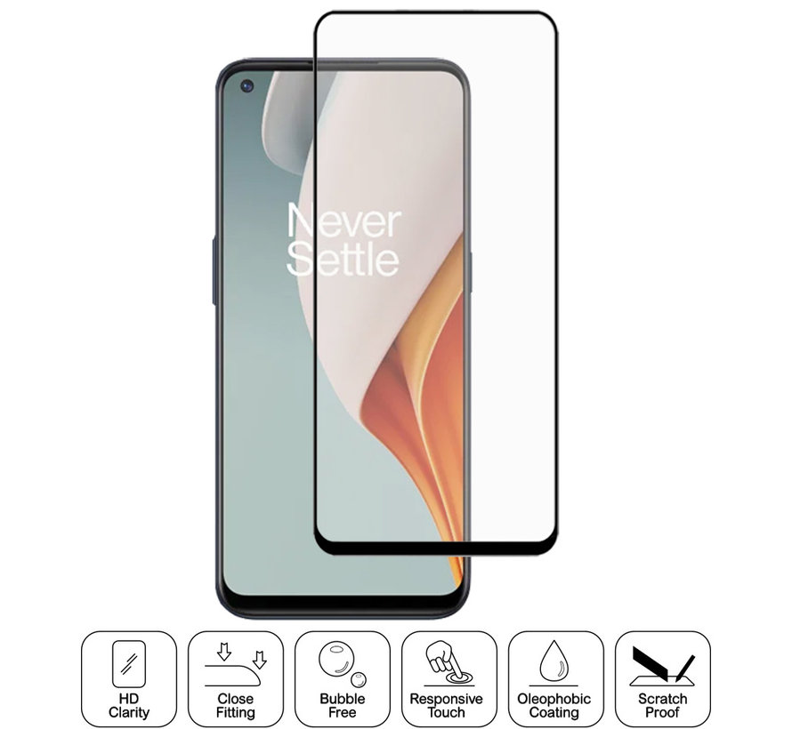 OnePlus Nord N100 3D Tempered Glass Screen Protector (2 st.)