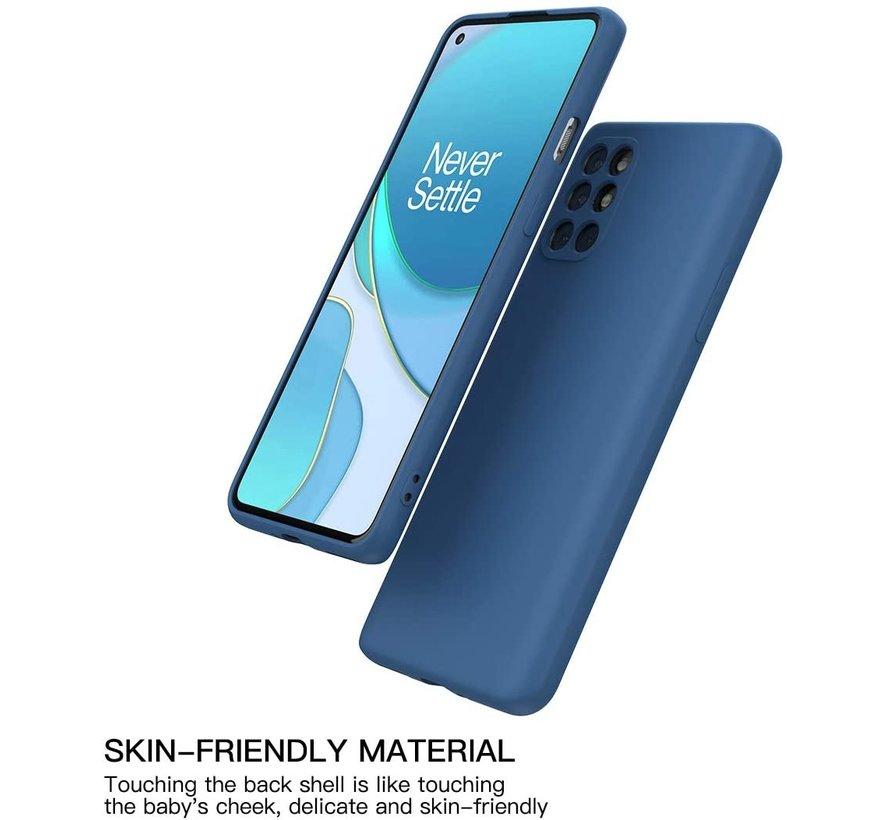 OnePlus 8T Hoesje Liquid Silicone Blauw