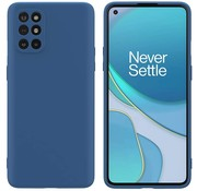 OPPRO OnePlus 8T Hoesje Liquid Silicone Blauw