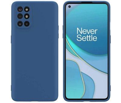 OPPRO OnePlus 8T Case Flüssiges Silikonblau